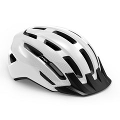 MET Downtown MIPS bicycle helmet for touring and commuting, White Gloss