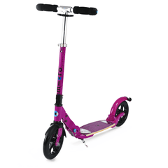 Micro Flex Deluxe 200mm kick scooter with flexible deck aubergine
