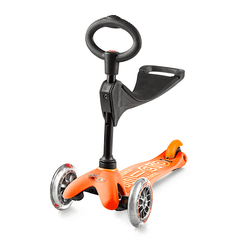 Micro Mini 3in1 Deluxe Orange with seat