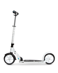 micro white kick scooter, side view