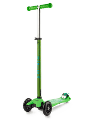 Micro Maxi Deluxe 3 wheel kick scooter for kids green