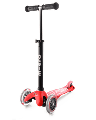 Micro Mini2go 3 wheel kick scooter for kids, showing scooter with seat and drawer removed