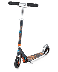 Micro Speed Plus Kick Scooter with 145mm wheels in Aztec Black/Orange