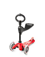 Micro Mini 3in1 Deluxe kick scooter with seat in red