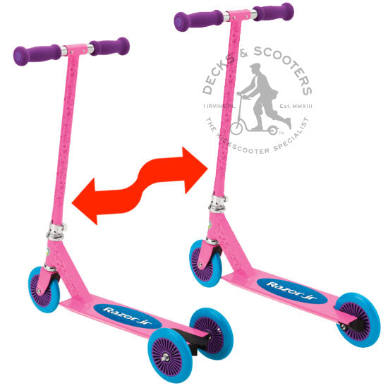 Razor Jr Mixi convertible kick scooter in pink