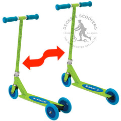 Razor Jr Mixi convertible kick scooter in blue/green