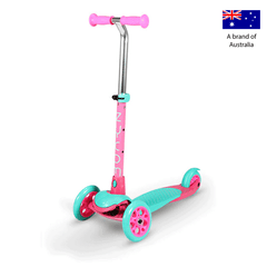 Zycom Zing 3 Wheel kick scooters for children - Pink/Teal