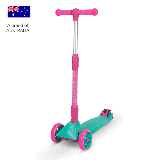 Zycom Zinger 3 wheel kick scooter for children - Teal / Pink