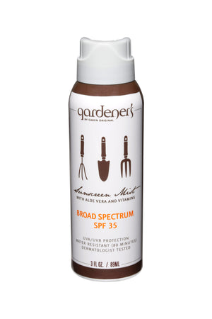 Load image into Gallery viewer, GARDENER'S  SUNSCREEN Clear Mist with Aloe Vera SPF 35 - 3 oz.