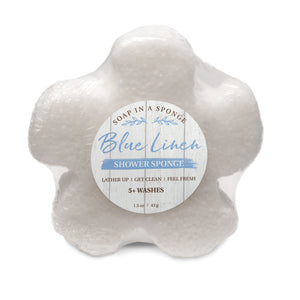Caren Original MINI Shower Sponge - Blue Linen