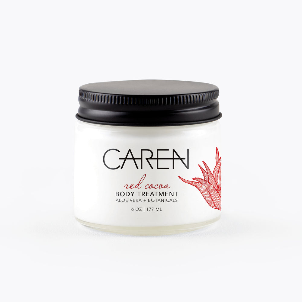Caren Body Treatment - Red Cocoa - 6 oz Glass Jar Case