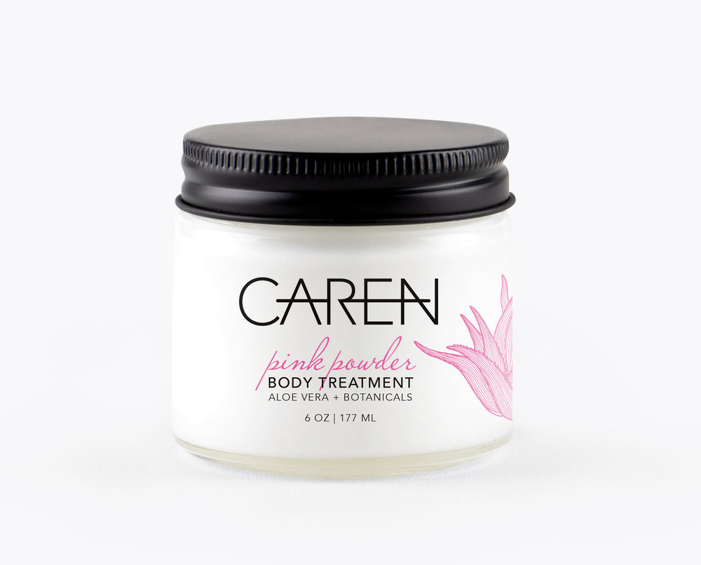 Caren Body Treatment - Pink Powder - 6 oz Glass Jar Case