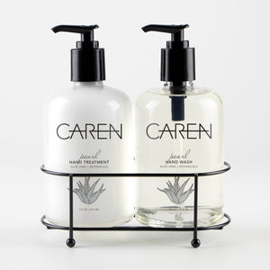 Caren Sink Set Duo - Pearl 14 oz Glass Bottles Case