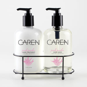 Caren Sink Set Duo - Pink Powder 14 oz Glass Bottles Case