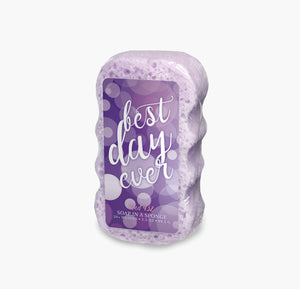 Caren Shower Soap Sponge - Kind432 Best Day Ever