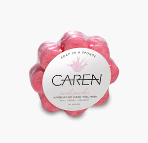 Caren Original Shower Sponge - Pink Powder Case