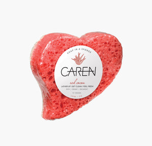Red Cocoa Shower Sponge