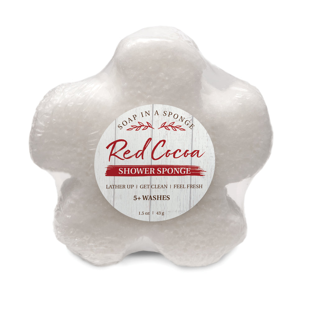Caren Original Red Cocoa MINI Shower Sponge
