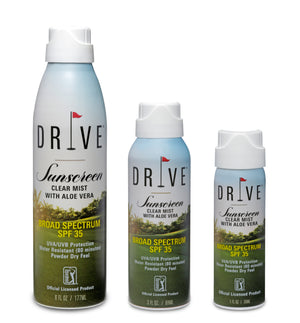 DRIVE SUNSCREEN Clear Mist with Aloe Vera SPF 35 - 6 oz Case