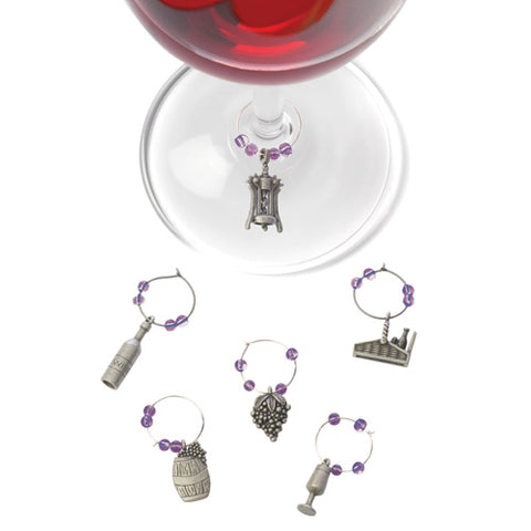 Wine Glass Charms - Winery