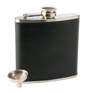 Monte Carlo 6 oz Faux Leather Flask
