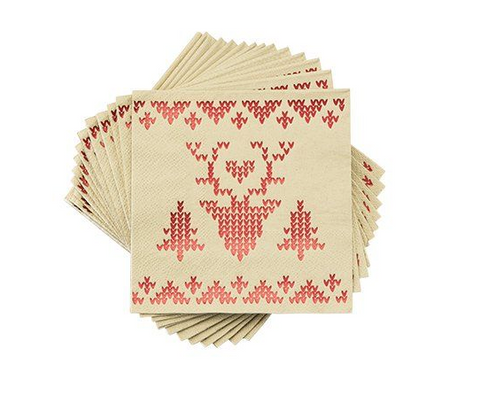 Red Shimmering Sweater Napkins