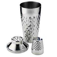 Stainless Steel Faceted Cocktail Shaker
