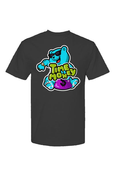 New Money Bear Time Is Money Streetwear-T-Shirt