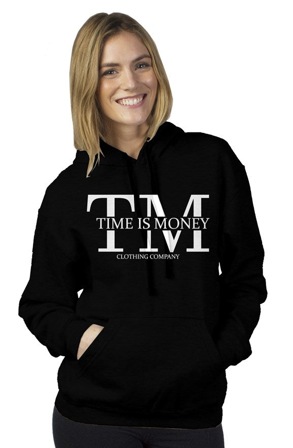 Time Is Money Original White Logo Pullover Hoody