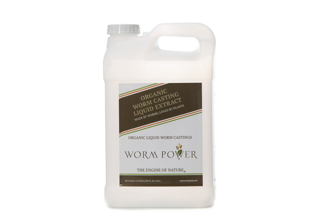 WP Organic Liquid Worm Casting Extract - 2.5 Gallon