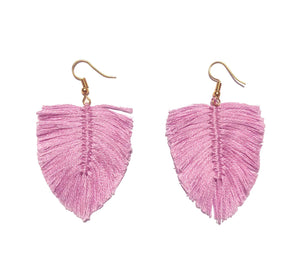 Aretes Boho Lilac / Boho earrings Lilac