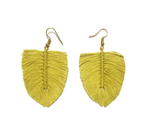 Aretes Boho Limón / Boho earrings Lemon