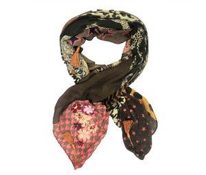 Pashmina Bordada Patchwork