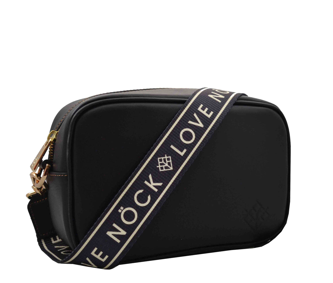 Crossbody Tulum Negro - DOBLE CORREA