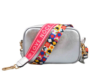 Crossbody Tulum Plata - DOBLE CORREA