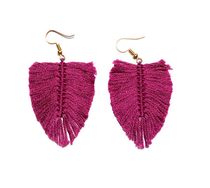 Aretes Boho Cereza / Boho earrings Cherry