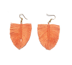 Aretes Boho Durazno/ Boho earrings peach