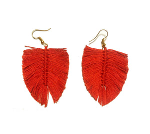 Aretes Boho Tomate / Boho earrings Tomato orange