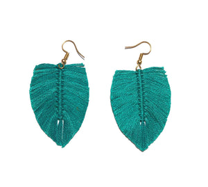 Aretes Boho Turquesa / Boho earrings Aqua