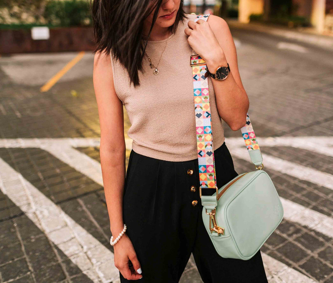 Crossbody Tulum Menta - Doble Correa