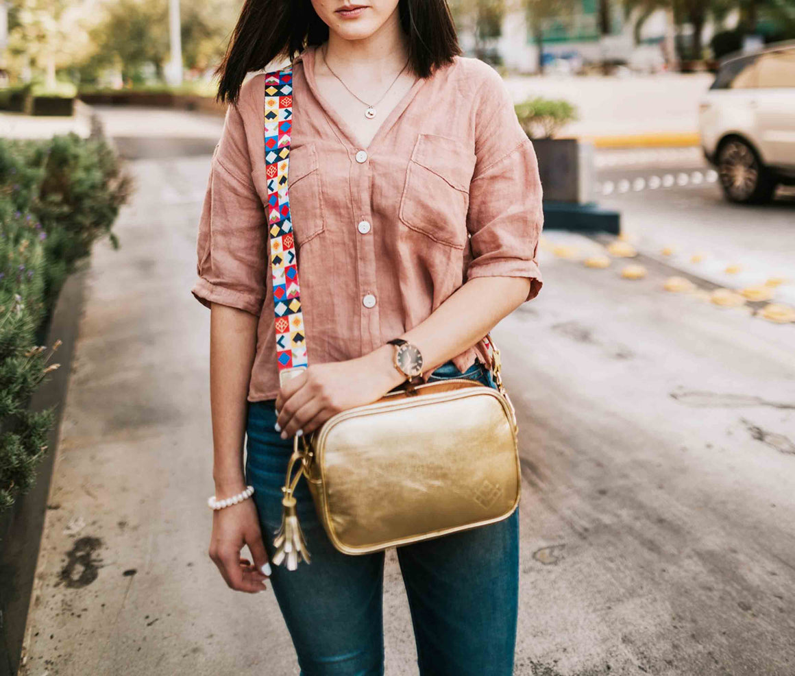Crossbody Tulum Oro - Doble Correa