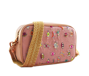 Crossbody Tulum ojitos avena