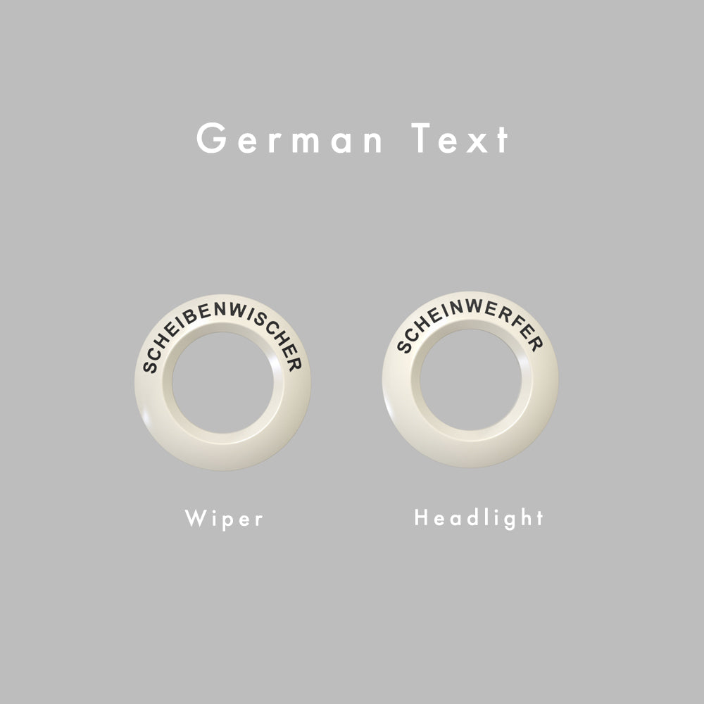 Wiper Headlight - German Text
