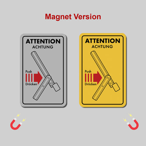 Magnet - Hood Attention Label