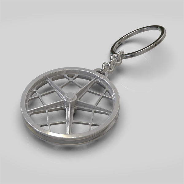BMX style wheel key chain