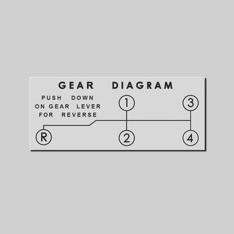 "Gear Diagram Decal - ""Narrow"""