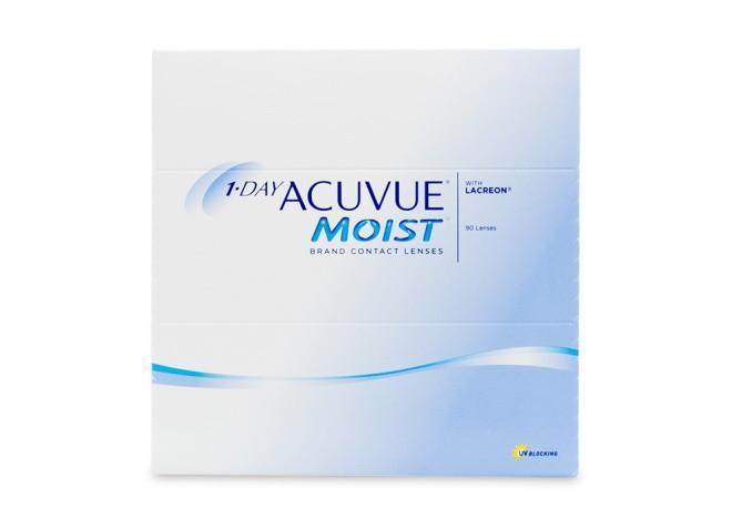 1 Day Acuvue Moist 90 Contact Lenses