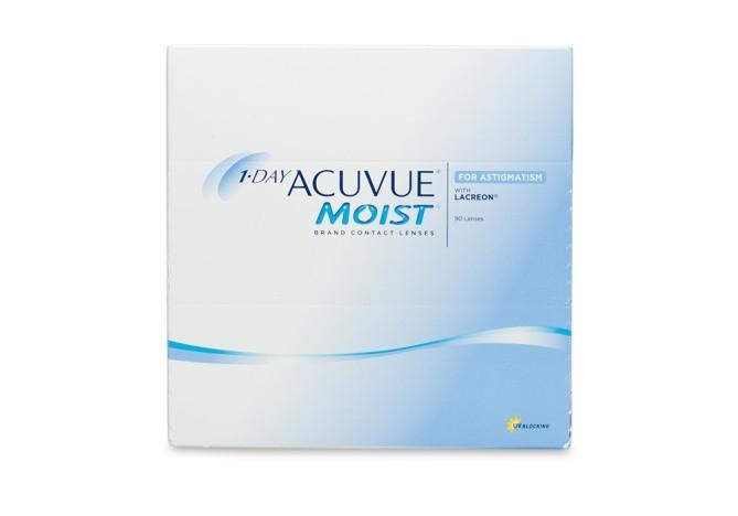 1 Day Acuvue Moist for Astigmatism 90 Contact Lenses