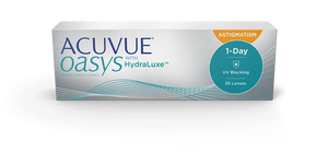 1 Day Acuvue Oasys Hydraluxe for Astigmatism (30 pack / 90 pack)