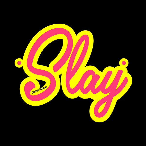 Slay Medium Letter Laser Cut Acrylic Necklace - Harlem Starlet